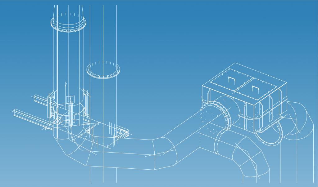 Graphique de tuyaux industriels